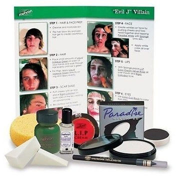 Mehron Evil Joker J Character Villian Professional Make Up Costume Kit KMP-EJ