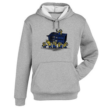 minions Hoodie Sweatshirt Sweater Shirt Gray and beauty variant color for Unisex size