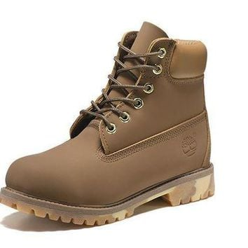 DCK7YE Best Deal Online Timberland 10061 Leather Lace-Up Boot Men Women Shoes Khaki