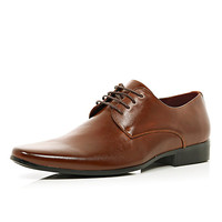 River Island MensBrown pointed formal shoes