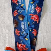 Finding Dory Lanyard Classic or with Mini Bow! Nemo, Marlin, Dory