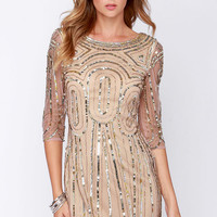 Raga So Spectacular Blush Sequin Dress