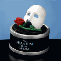 The Phantom of the Opera - Rotating Figurine with Mask and Rose