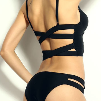 Swimsuit-Alexa Strappy Black