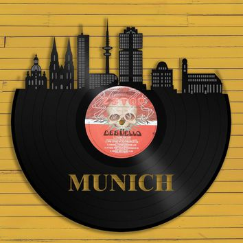 Top Gifts For Dad Birthday, Record Art, Munich Skyline, Munich Germany Art, Best Gift For Coworker Birthday, Boyfriend Birthday Mom Birthday