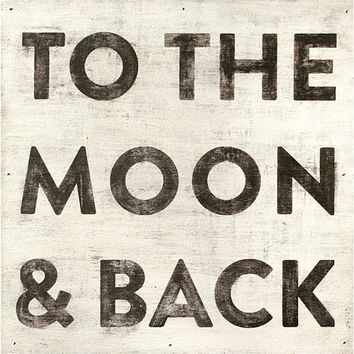Sugarboo Art Print: To The Moon and Back