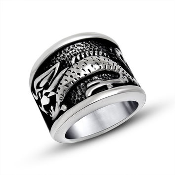 Gift Jewelry New Arrival Stylish Shiny Vintage Design Fashion Relief Sculpture Men Accessory Ring [6542752259]