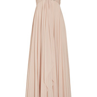 Marchesa Off-the-shoulder embellished silk-chiffon gown – 60% at THE OUTNET.COM