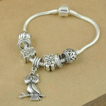 Fashion Retro Simple OWL Bracelet Ring Wrist