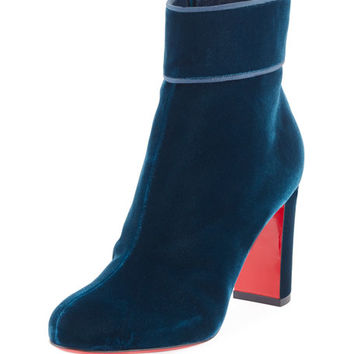 Christian Louboutin Moulamax Velvet 85mm Red Sole Boot