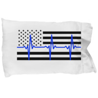 Law Enforcement - Thin Blue Lifeline Flag - Pillow Case