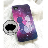 Sailor Moon LUNA & ARTEMIS cat iPhone 4 4s  5 by blacksheepcase