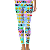 I Love Pixel Emojis Leggings