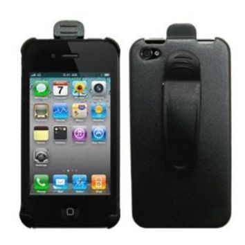 Cbus Wireless Holster Case w/ Ratcheting Belt Clip for Apple iPhone 4S / iPhone 4