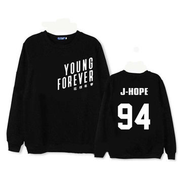 BTS album young forever suga moletom hoodie for men shirt floral letter kpop hoodies jungkook sweatshirts womens anel clothes