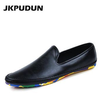 Fashion Italian Casual Shoes Men Designer Mens Driving Shoes High Quality Penny Loafers Luxury Brand Espadrilles Flats Moccasins