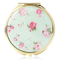 Floral Mirror Compact