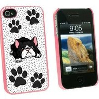 Graphics and More Boston Terrier of Awesomeness - Snap On Hard Protective Case for Apple iPhone 4 4S - Pink - Carrying Case - Non-Retail Packaging - Pink