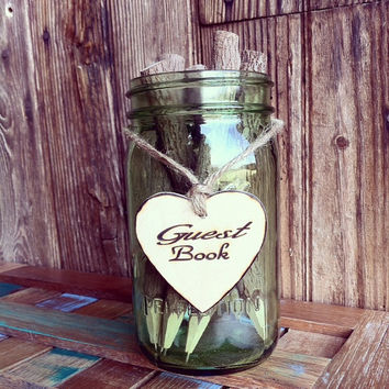 Guest Book Sign Rustic Wedding Guest Book Decor Wood Heart Guest Book Sign Engraved Guest Book Sign