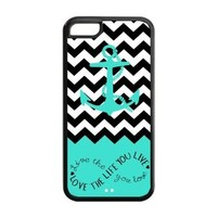 Anchor Coral Chevron iPhone 5c Case - For iPhone 5c - Designer Hard Case Verizon AT&T Sprint