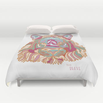 BE BRAVE Duvet Cover by Nika