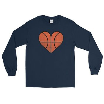 Basketball I Love Distressed Basketball Long Sleeve T-Shirt c013f8596d