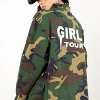 Girls Tour Army Fatigue Coat