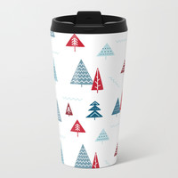 Christmas Forest Metal Travel Mug by migger