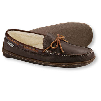 Men's Handsewn Slippers, Fleece-Lined: Slippers | Free Shipping at L.L.Bean