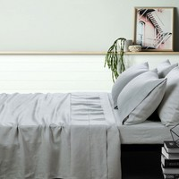 100% Linen Dove Grey Sheet Set by Accessorize