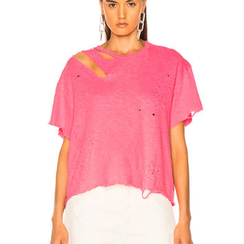 Amiri Slash Tee in Neon Pink | FWRD