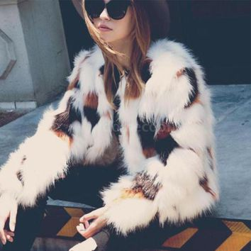 New 3XL Faux Fur Coat women Tops full pelt Fluffy Fox fur jacket Winter Fur Overcoat Customized Hairy Plus Size Shaggy Coat Z3