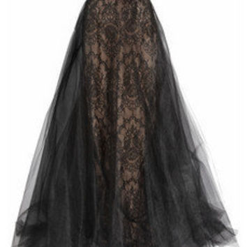 Marchesa Strapless tulle and lace gown - 65% Off Now at THE OUTNET