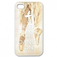 Keep Calm and Dance On Plastic Iphone 4/4S Case