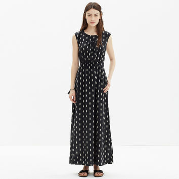 Ikat Brush Maxi Dress