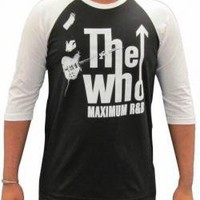 ROCKWORLDEAST - The Who, Baseball Tee, Maximum R&B