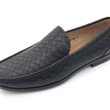 Men's Textured Slip on Dress Loafers By Easy Strider Available in Big & Tall Sizes Black 15 D(M) US '