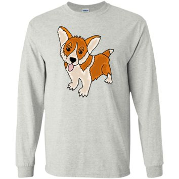 funny cool welsh corgi puppy dog art T-Shirt