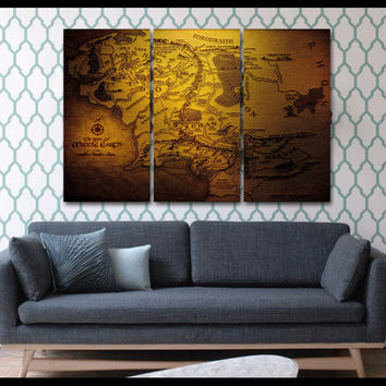 Lord Of The Rings 3-Piece Wall Art Canvas