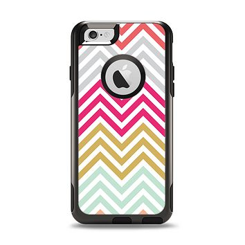 The Three-Bar Color Chevron Pattern Apple iPhone 6 Otterbox Commuter Case Skin Set