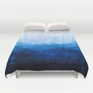 All good things are wild and free - Ocean Ombre Painting Duvet Cover by Prelude Posters
