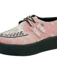 A8821 Pink Crushed Vegan Velvet Viva Mondo Creeper