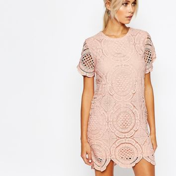 Fashion Union Dress in Crochet at asos.com