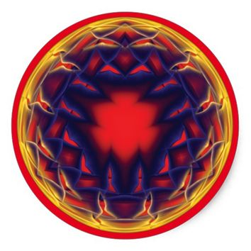 Sacred Geometry Classic Round Sticker