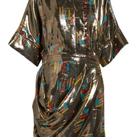 J.W.Anderson - Printed silk and Lurex-blend lamé dress