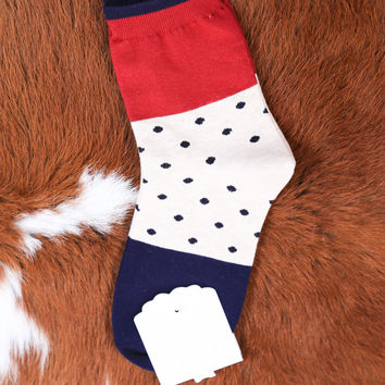 Color Block Ankle Sock, Navy