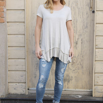 Going Natural Ruffle Hem Top