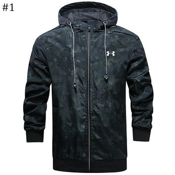 UA Under Armour trend men's sports jacket zipper hoodie windbreaker #1