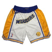 Just Don Mitchell & Ness Golden State Warriors Hardwood Classic Basketball Shorts - Best Deal Online