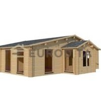 Eurodita 2 Bedroom Prefab House Log Cabin Pool House Guest House Kit